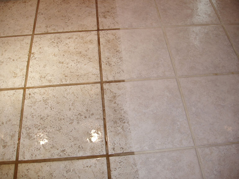 Clean kitchen tile floors wood floors for How to clean flor tiles
