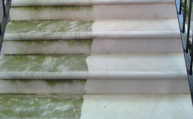 Outdoor Limestone Stairs