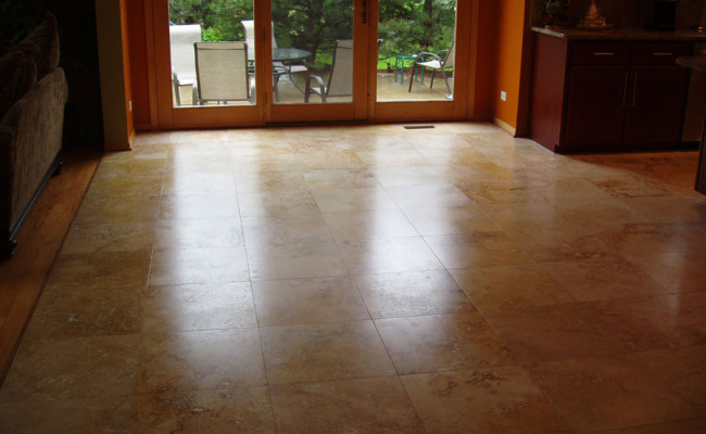 Travertine Floor Cleaning and Restoration 2