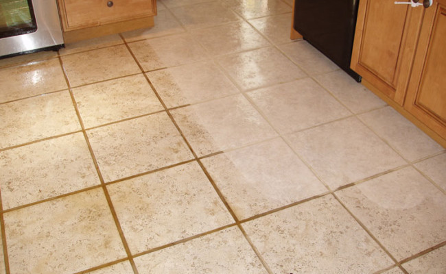 Kitchen Tile and Grout Cleaning 1