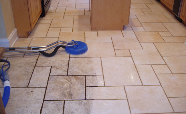 Limestone Kitchen Floor 1
