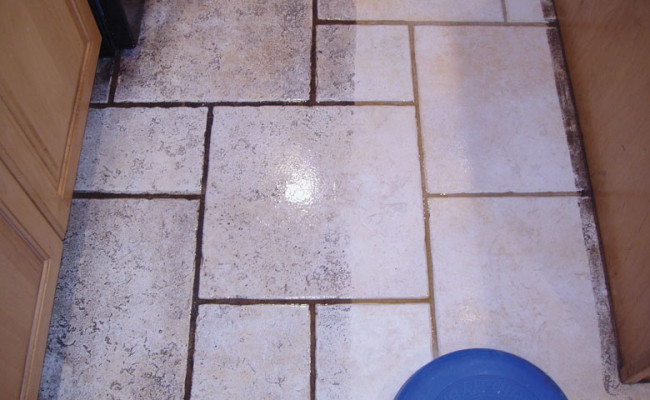 Limestone Kitchen Floor 2