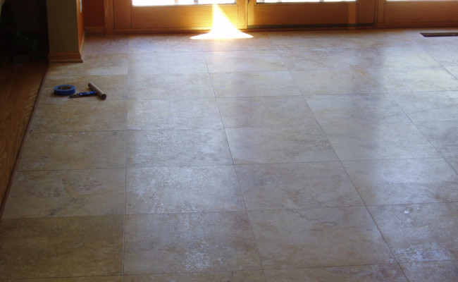 Travertine Floor Cleaning and Restoration 1