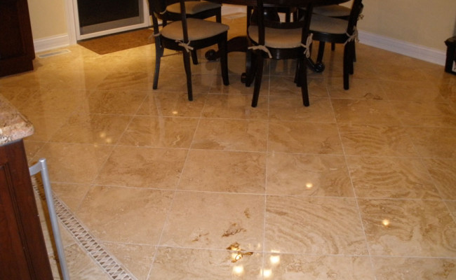 Travertine Repair and Polishing 1