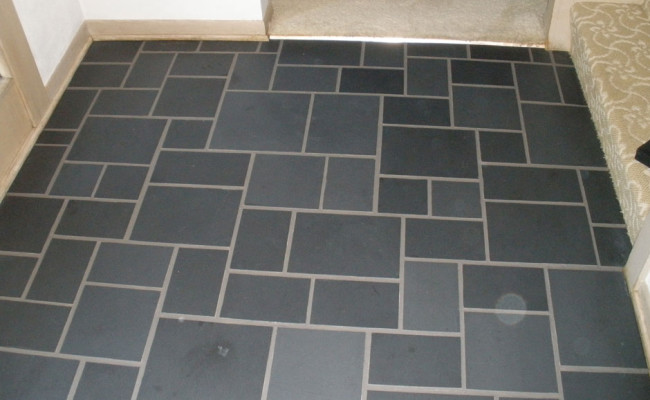 slate 9 after grout seal